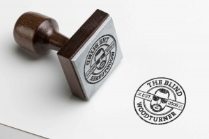 Creative Agency Manchester | The Blind Wood Turner | Branded Stamp
