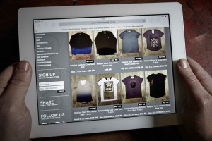 Brand Design Agency Manchester | Room 14 Menswear | Fashion Website iPad