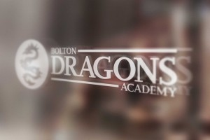 Creative Agency Manchester | Tim Marner | Bolton Dragons Window Logo