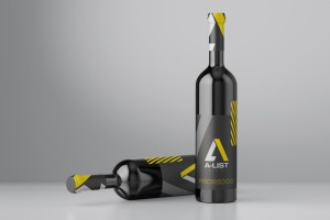 A-List Events Wine Bottles   Tim Marner Creative Agency Manchester