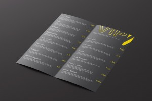 A-List Events Drinks Menu Inner | Tim Marner Creative Agency Manchester