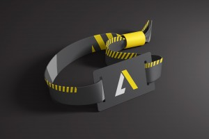 A-List Events Wristband | Tim Marner Creative Agency Manchester